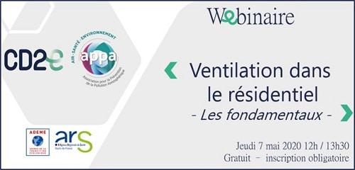 webinaire Ventilation - CD2E APPA