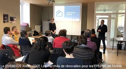 Atelier TPEPME Artois - chantiers rénovation 2020 -CD2E