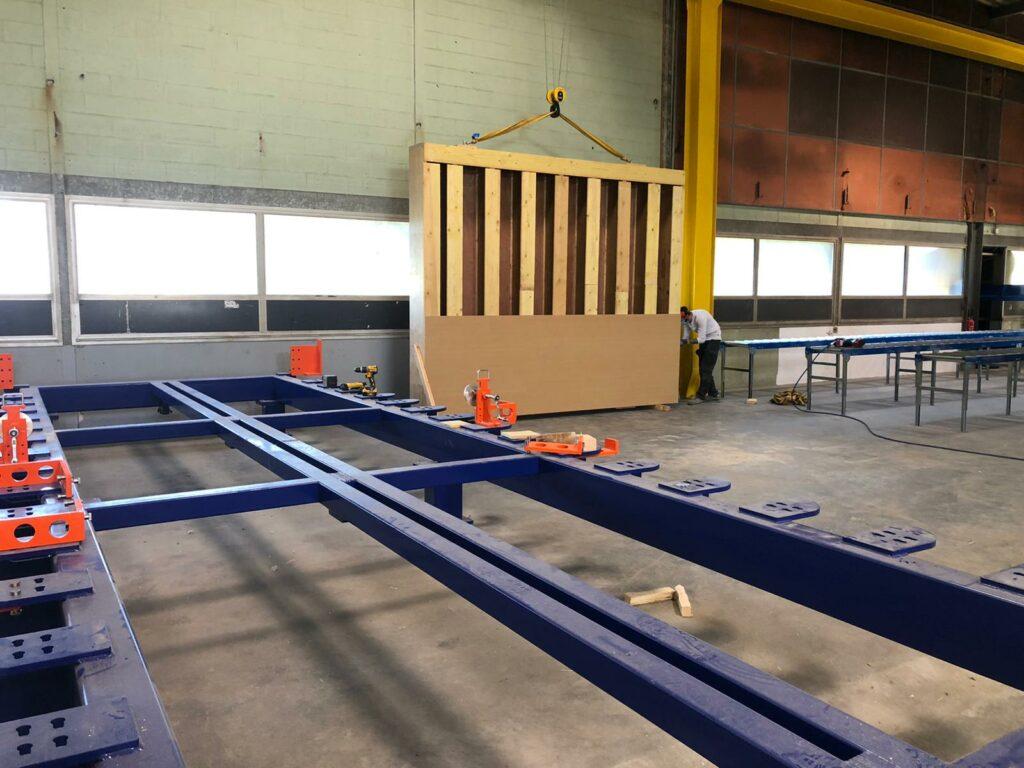 fabrication de blocs de construction en paille